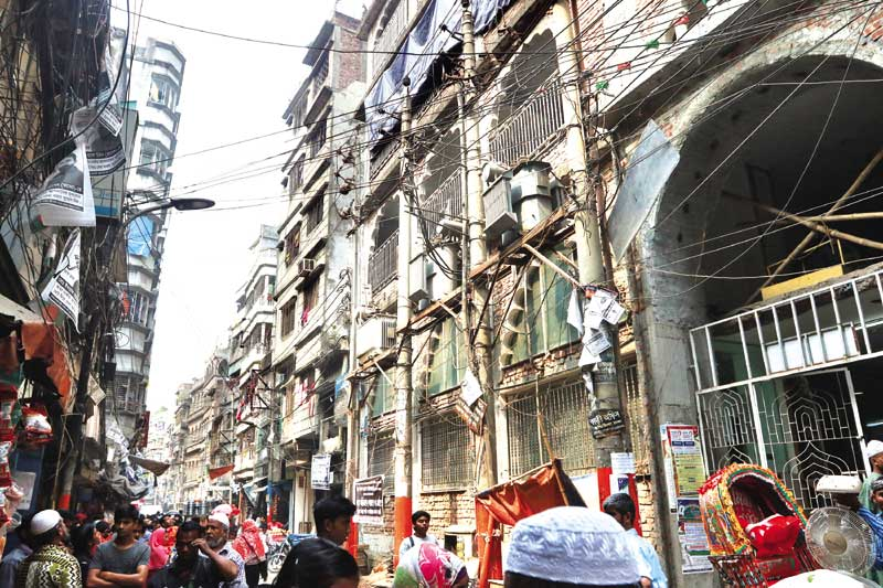 A transformer explosion at Alu Bazar in the old part of Dhaka left six madrasa students (inset) burned on Saturday. 	photo: Observer