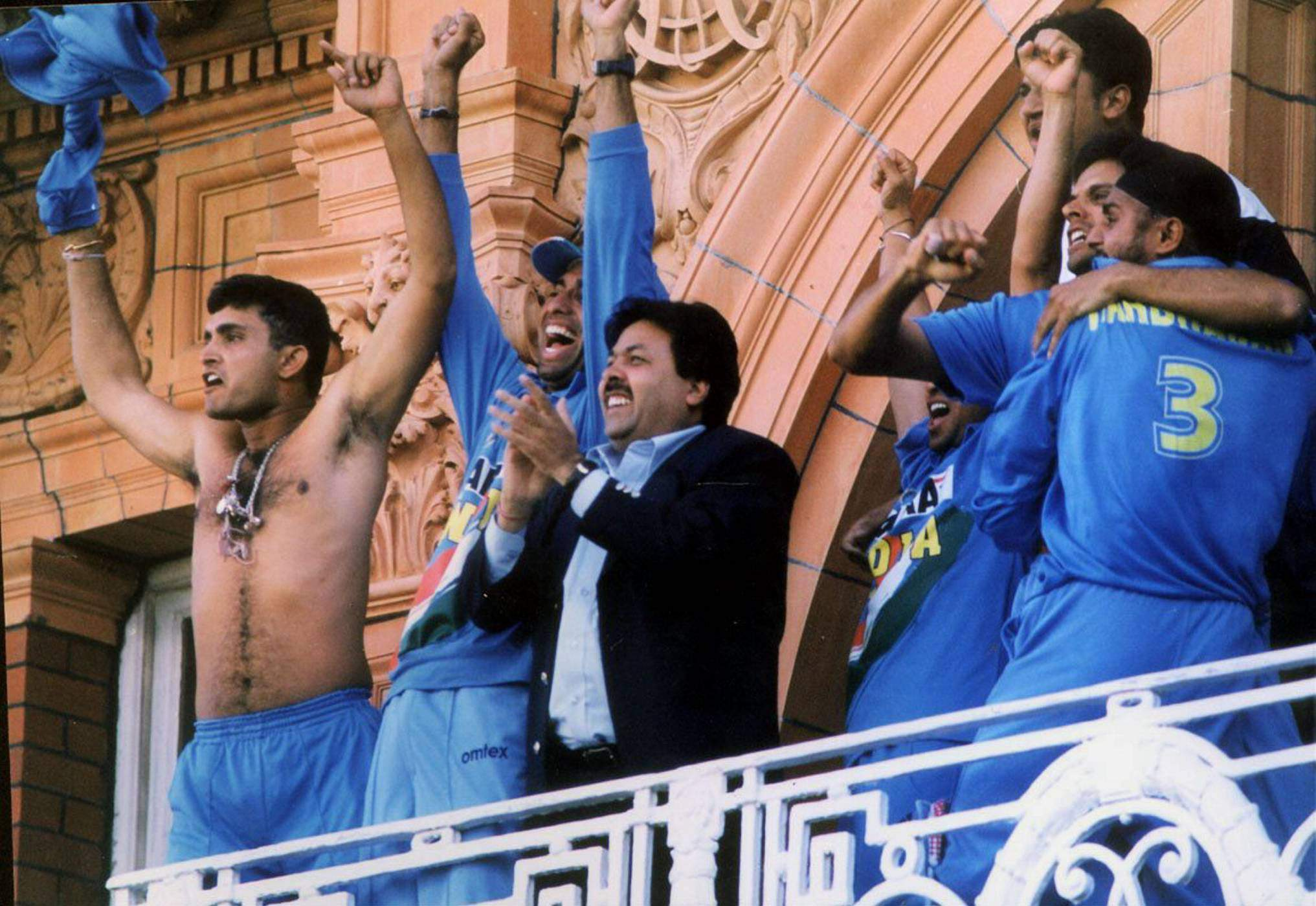 Ganguly Without Shirt Lords NatWest Trophy, 2002