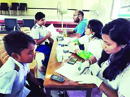 JVF's free health camp for rural school children