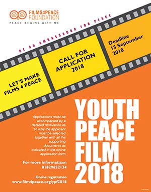 Youth peace film 2018: Call for application