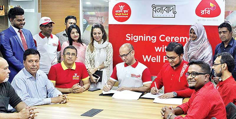 Robi, Well Food sign business deal