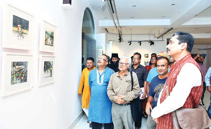 Guests at the exhibition