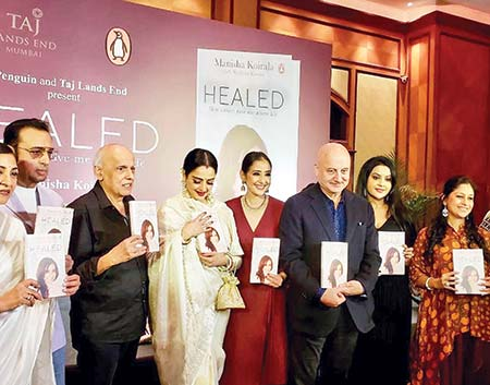 Manisha's book on cancer battle launched