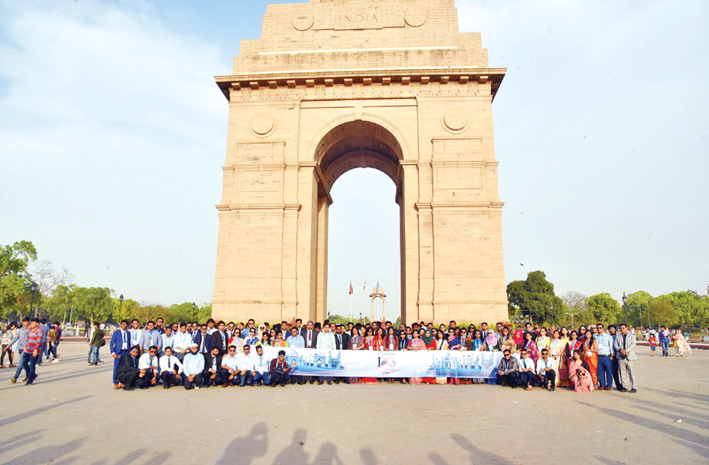A delegation of 100 Bangladeshi youths recently visited India's Agra