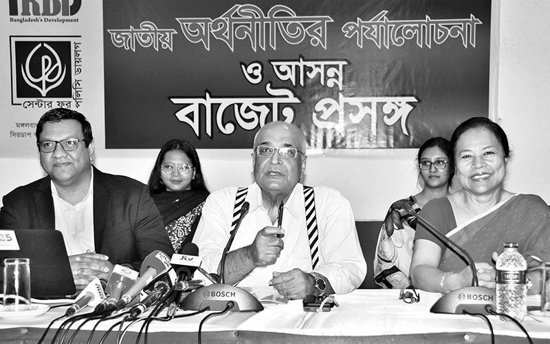 Debapriya Bhattacharya unveiling the CPD's report-State of